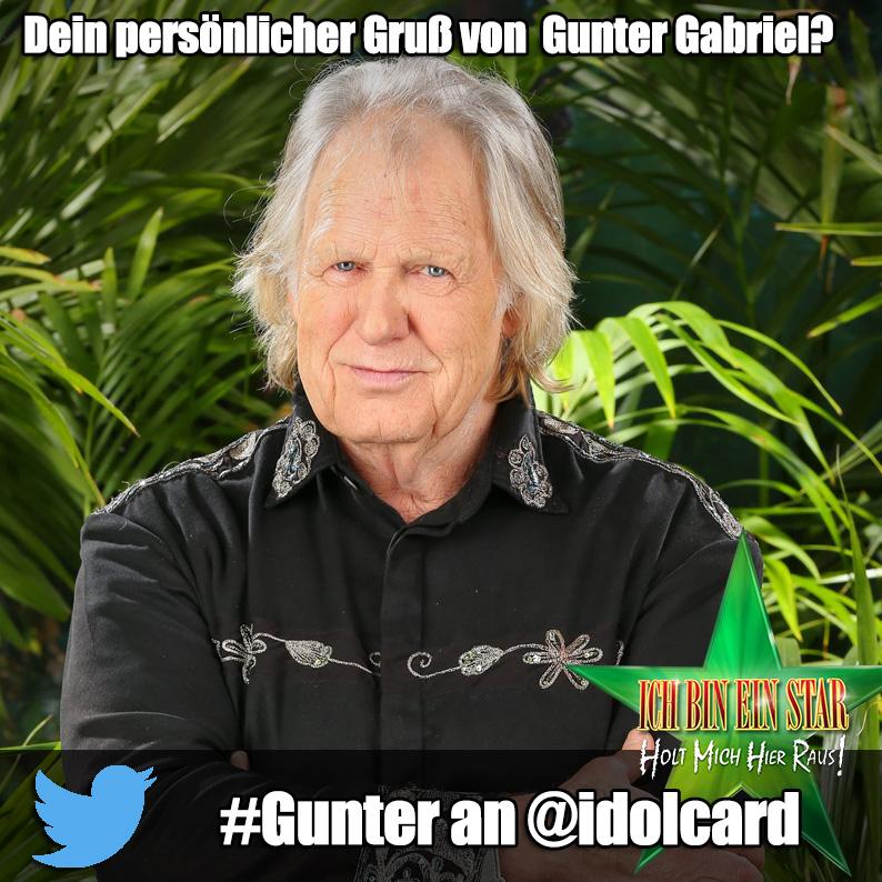 Digitale idolCARD Autogrammkarte von Dschungelcamp Gunter Gabriel