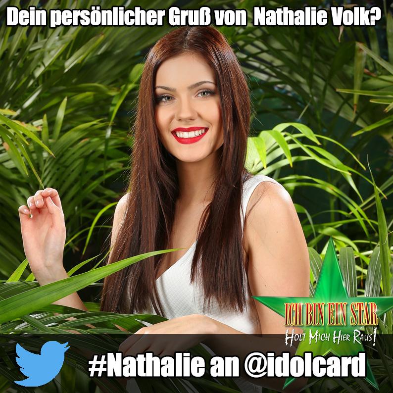 Digitale idolCARD Autogrammkarte von Dschungelcamp Nathalie Volk