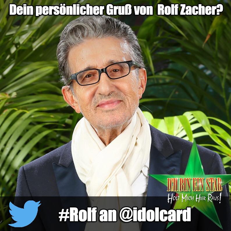Digitale idolCARD Autogrammkarte von Dschungelcamp Rolf Zacher