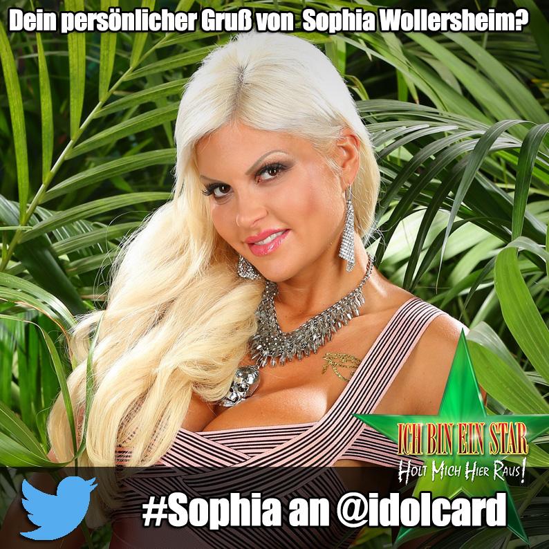 Digitale idolCARD Autogrammkarte von Dschungelcamp Sophia Wollersheim